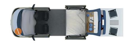Spaceship Beta 2S: Tag-Layout (Camping)