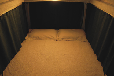 Das Doppelbett unten