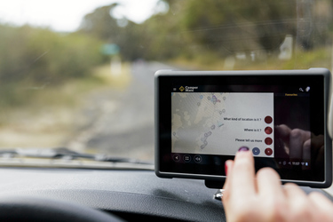 Praktisch: Tablet u.a. zur Navigation