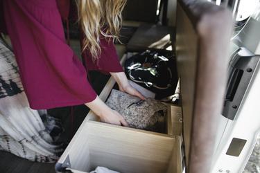 Stauraum unter der Sitzbank