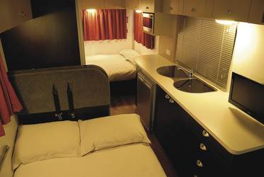Zwei Betten im Wohnbereich