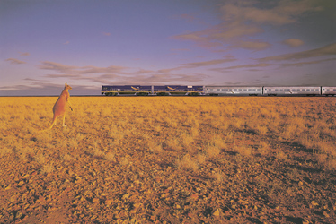 Indian Pacific Zug im Outback