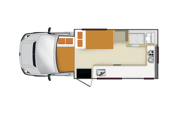 Apollo Euro Camper: Nacht-Layout