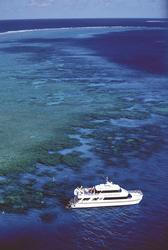 Blick auf die Poseidon am Riff