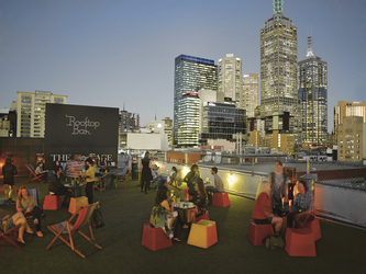 Melbourne, The Age Rooftop Bar