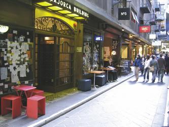 Kleine Gasse in Melbourne
