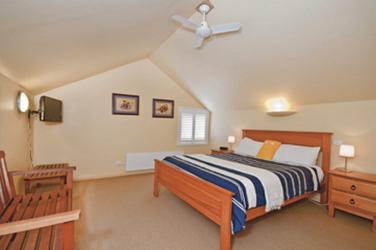 Eines der beiden Schlafzimmer im Loft
