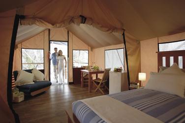 Geräumiges und komfortables Zelt-Bungalow