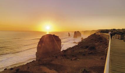Sonnenuntergang bei den 12 Apostles