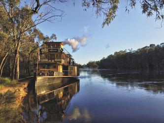 Ankerstelle am Flussufer