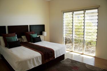 Schlafbereich in der Eco Villa