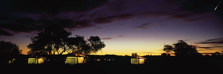 Sternschnuppe über dem Karijini Eco Retreat