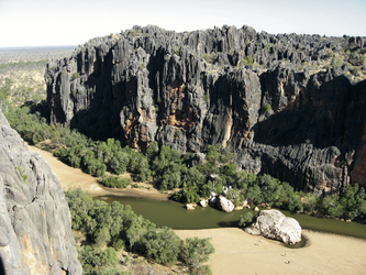 Blick in die Windjana Gorge