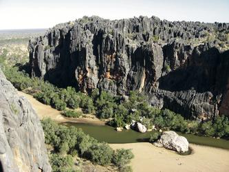 Blick in die Windjana Gorge