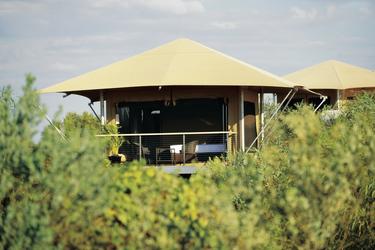 Eco Zelte mit Gartenblick