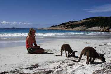 Am Strand der Lucky Bay