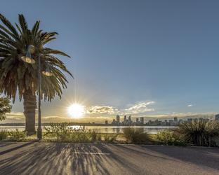 Perth Skyline am Swan River