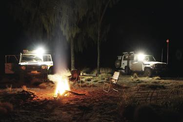 Typisches Nachtlager