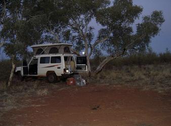 Camping zwischen Brunnen 38 und 39