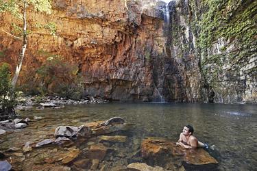 Erfrischendes Bad in der Emma Gorge
