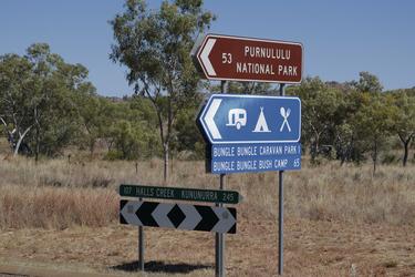 Der Abzweig zum Purnululu NP (Bungle Bungles)