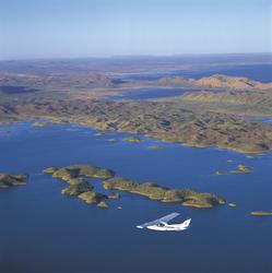 Flug über den Lake Argyle
