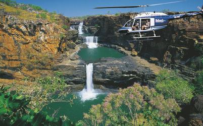 Helikopterflug über die Mitchell Falls