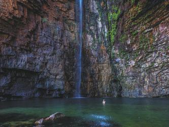 Badevergnügen in der Emma Gorge