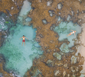 Floating in Rockpools
