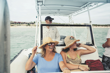 Beim Bootsausflug