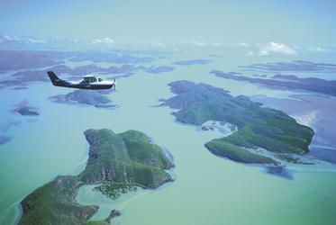 Flug über das Buccaneer Archipelago