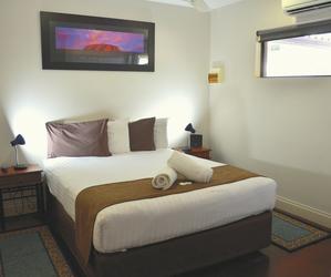 Schlafzimmer im Deluxe Apartment