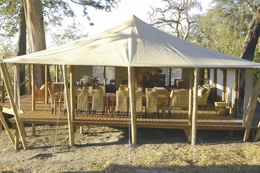 Speiseraum von Linyanti Bush Camp