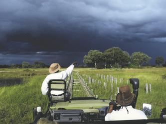 Pirschfahrt mit Tracker, Kwara Camp