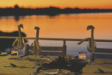 Chobe Princess Abendessen mit Flussblick