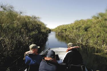 Okavango Delta Bootsfahrt