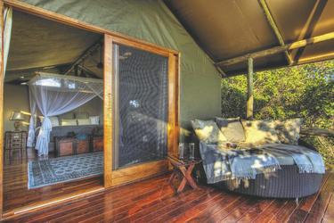 Geräumiges Safarizelt