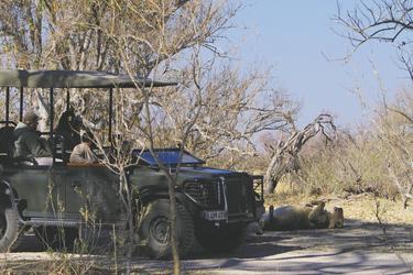 Auf Safari beim Xakanaxa Camp