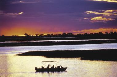 Sonnenuntergangsfahrt bei Chobe Chilwero