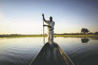 Mokoro Fahrt auf dem Okavangodelta