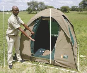 Zeltbeispiel von Bush Ways Safaris