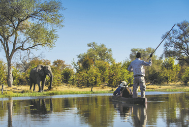 Mokoro Fahrt im Khwai Game Reserve