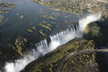 Die Victoria Wasserfälle