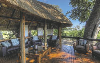 Willkommensbereich Camp Okavango, ©Desert & Delta Safaris