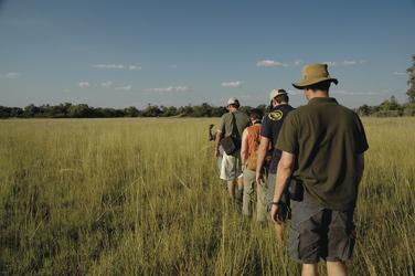 Zu Fuß im Okavango Delta unterwegs