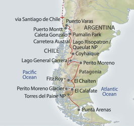 Overland-Tour Patagonien