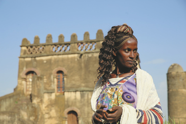 Frau in Gondar