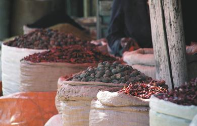 Auf dem Markt in Addis Abeba