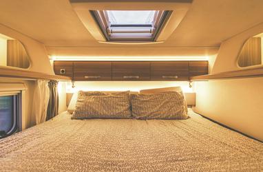 Doppelbett im Heck