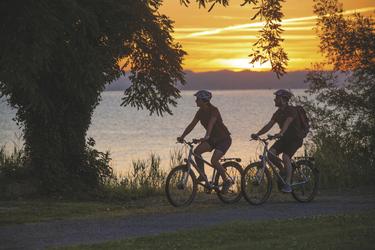 Radeln bei Sonnenaufgang